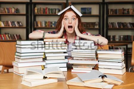 путать сидят библиотека таблице большой Сток-фото © deandrobot