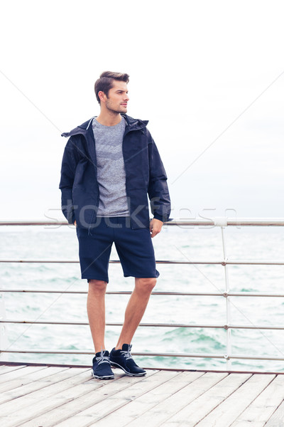 Stock photo: Sports man standing outdoors