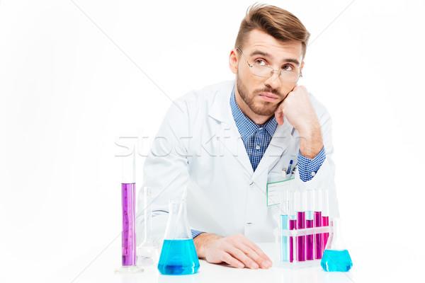 ученого химикалии изолированный белый медицинской Сток-фото © deandrobot