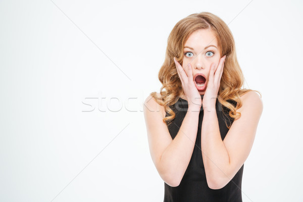 Amazed woman looking at camera  Stock photo © deandrobot