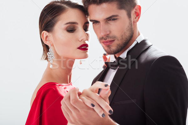 Fashionable couple in love Stock photo © deandrobot