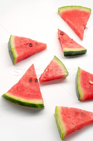 Stukken watermeloen witte verschillend driehoek Rood Stockfoto © deandrobot