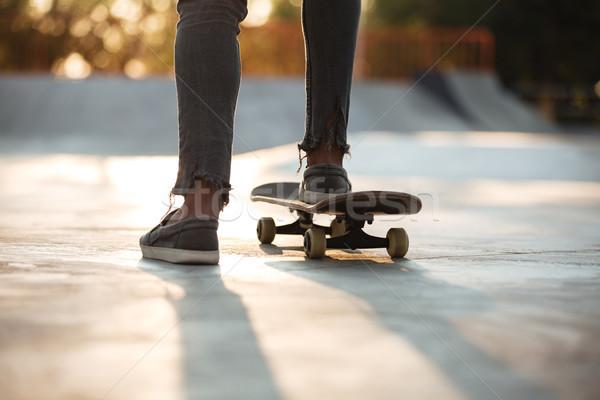 ног катание конкретные человека улице Сток-фото © deandrobot