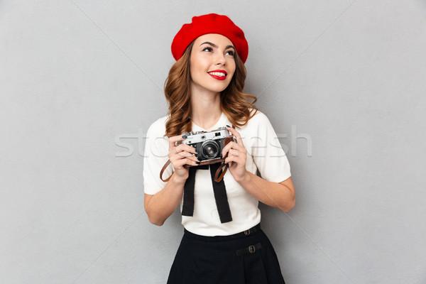 портрет улыбаясь школьница равномерный фото Сток-фото © deandrobot