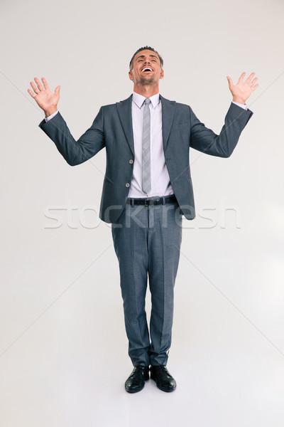 портрет бизнесмен изолированный белый Сток-фото © deandrobot