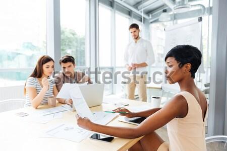 группа коллеги планирования работу Сток-фото © deandrobot