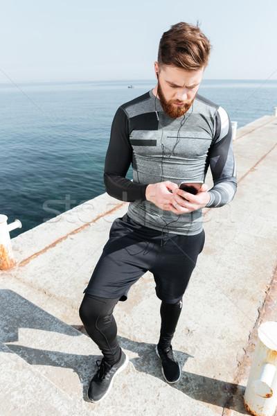 Stok fotoğraf: Telefon · deniz · tam · uzunlukta · görüntü · bakıyor