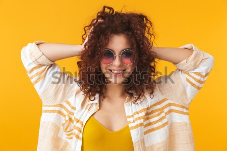 Portrait souriant afro femme Photo stock © deandrobot