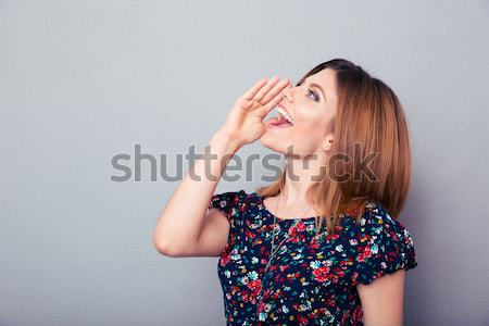Woman Calling for help Stock photo © deandrobot