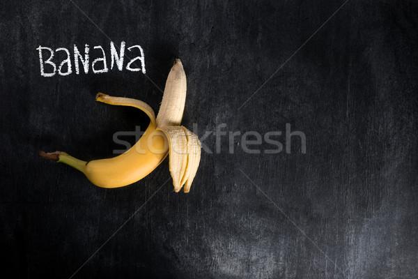 Top view image of fruit banana Stock photo © deandrobot
