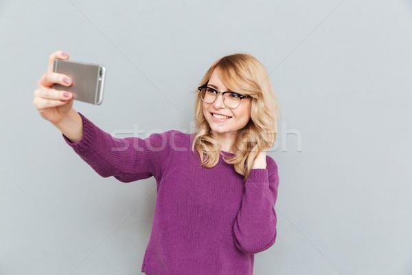 Student making photo Stock photo © deandrobot