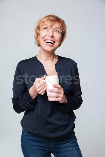 Сток-фото: вертикальный · изображение · смеясь · Кубок · Постоянный