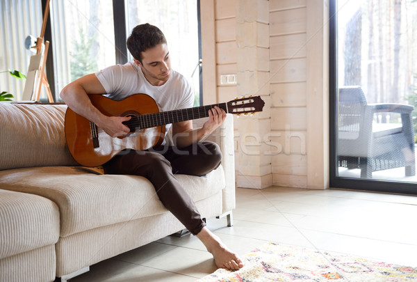 man going in for hobbies Stock photo © deandrobot
