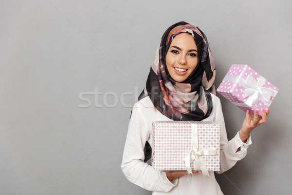 Portrait of a preety young arabian woman Stock photo © deandrobot