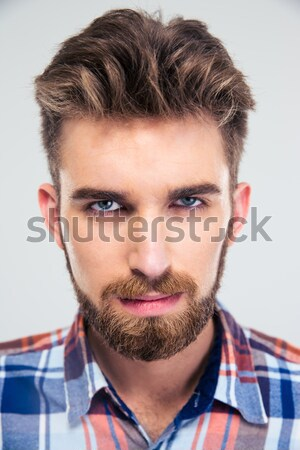 Man singing with closed eyes Stock photo © deandrobot