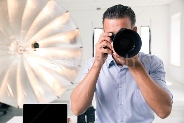 Fotoğrafçı fotoğraf kamera stüdyo iş Stok fotoğraf © deandrobot