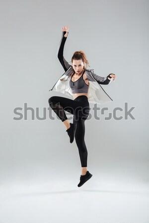 ファッション 女性 かかと ロリポップ ストックフォト © deandrobot