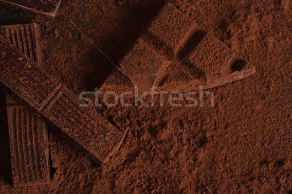 Top view buio coperto polvere Foto d'archivio © deandrobot