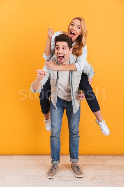 Foto stock: Imagem · caucasiano · casal · indicação