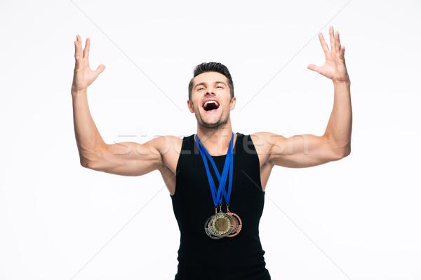 фитнес человека успех Сток-фото © deandrobot