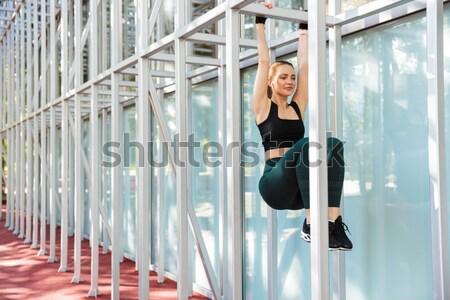 Bailarina ballet clase hermosa mujer Foto stock © deandrobot