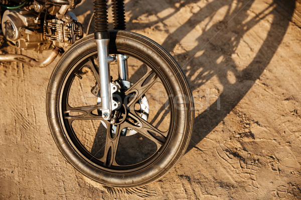 Close up of motorcycle wheel Stock photo © deandrobot