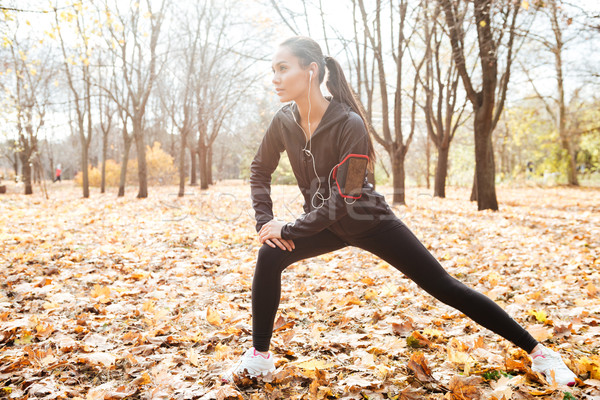 Mooie runner warm kleding sport Stockfoto © deandrobot