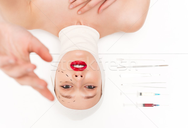 Young woman in bandages Stock photo © deandrobot