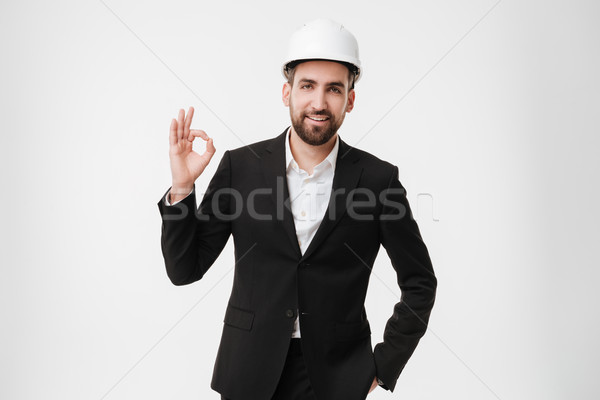 Atractivo arquitecto casco bueno Foto stock © deandrobot