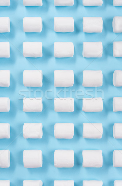 Top view image of a lot of white marshmallows Stock photo © deandrobot