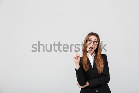 женщину красные губы говорить мобильного телефона фотография Сток-фото © deandrobot