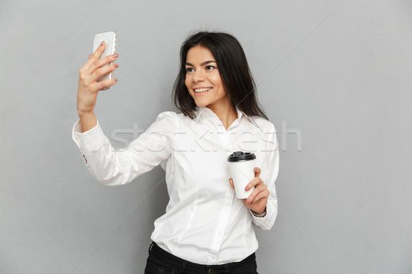 фото секретарь женщину формальный носить Постоянный Сток-фото © deandrobot