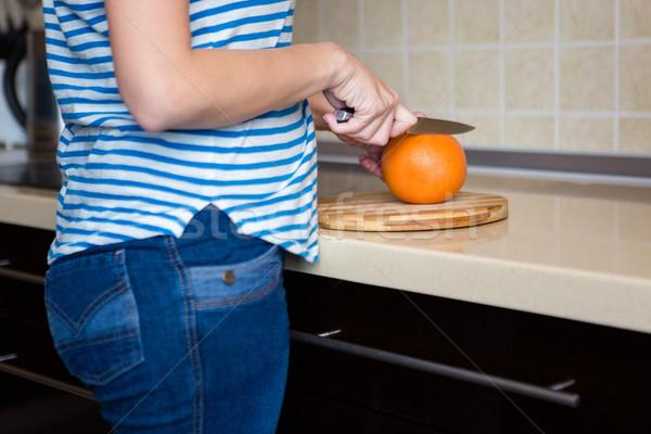 Delgado pomelo cocina casa Foto stock © deandrobot