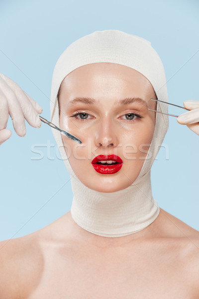 Beautiful model with unusual image Stock photo © deandrobot