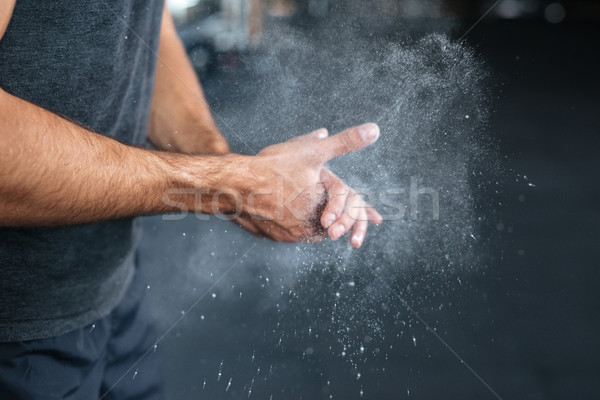 Photo of fitness hands Stock photo © deandrobot