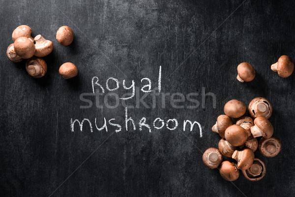 Kép gombák sötét felső kilátás egészség Stock fotó © deandrobot