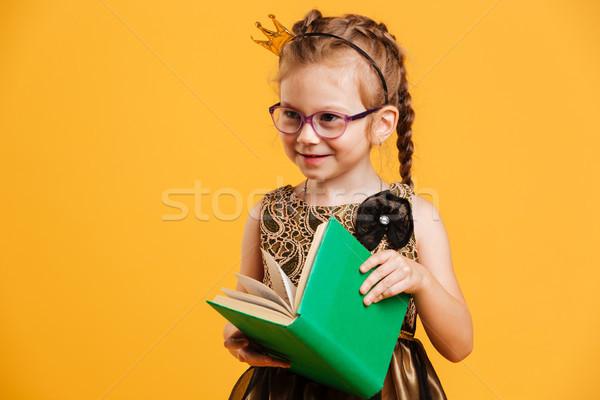 Bastante menina criança princesa coroa Foto stock © deandrobot