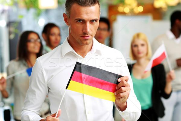 бизнесмен флаг Германия коллеги бизнеса Сток-фото © deandrobot