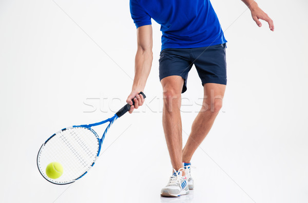 Closeup portrait of a man playing in tennis  Stock photo © deandrobot
