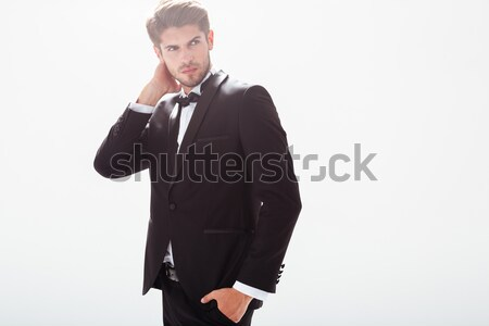 Young man in suit Stock photo © deandrobot