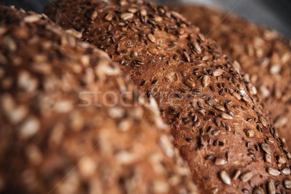 画像 パン ベーカリー カフェ 朝食 ボード ストックフォト © deandrobot