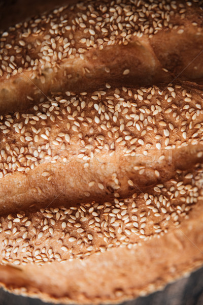 Ekmek fırın resim kafe kahvaltı tahta Stok fotoğraf © deandrobot