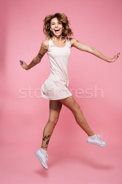 Retrato alegre menina verão vestir Foto stock © deandrobot