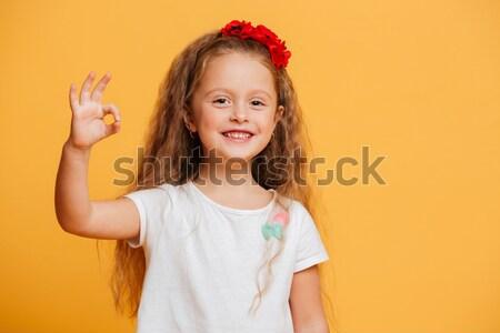 Сток-фото: девочку · ребенка · Постоянный · изолированный · изображение