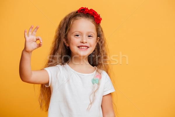 Funny nina nino bueno gesto Foto stock © deandrobot