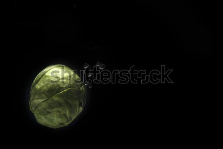 Ripe avocado isolated over black Stock photo © deandrobot