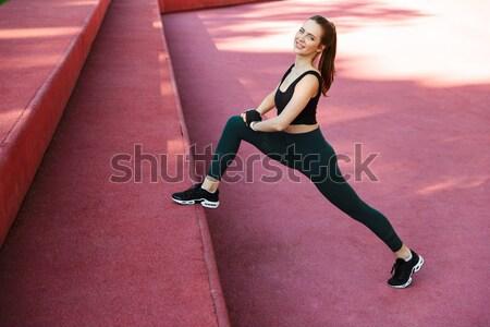 Shot szczęśliwy piękna kobieta interesu formalny sukienka Zdjęcia stock © deandrobot