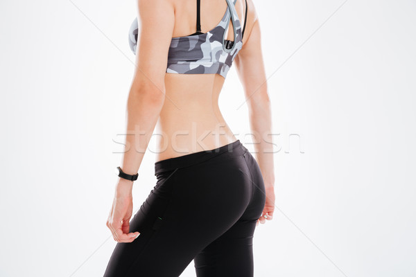 Side view of aerobic woman Stock photo © deandrobot