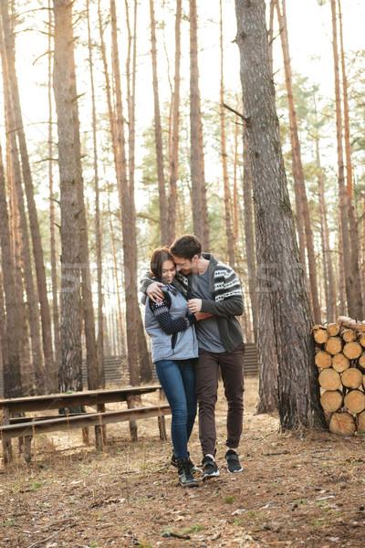 Full-length shot of hugging couple Stock photo © deandrobot