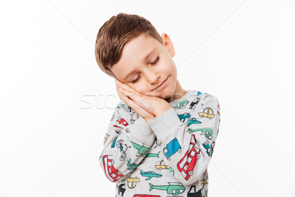 Portrait of a cute little kid Stock photo © deandrobot